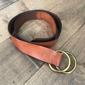 GAP Genuine Leather Belt Dark Brown Buckle M